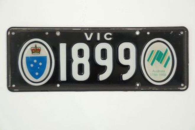 Number Plates - Victorian Bicentennial Number Plates '1899'