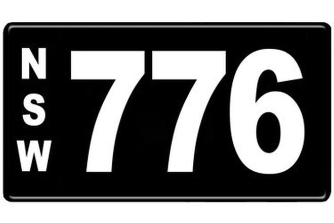 Number Plates - NSW Numerical Number Plates '776'