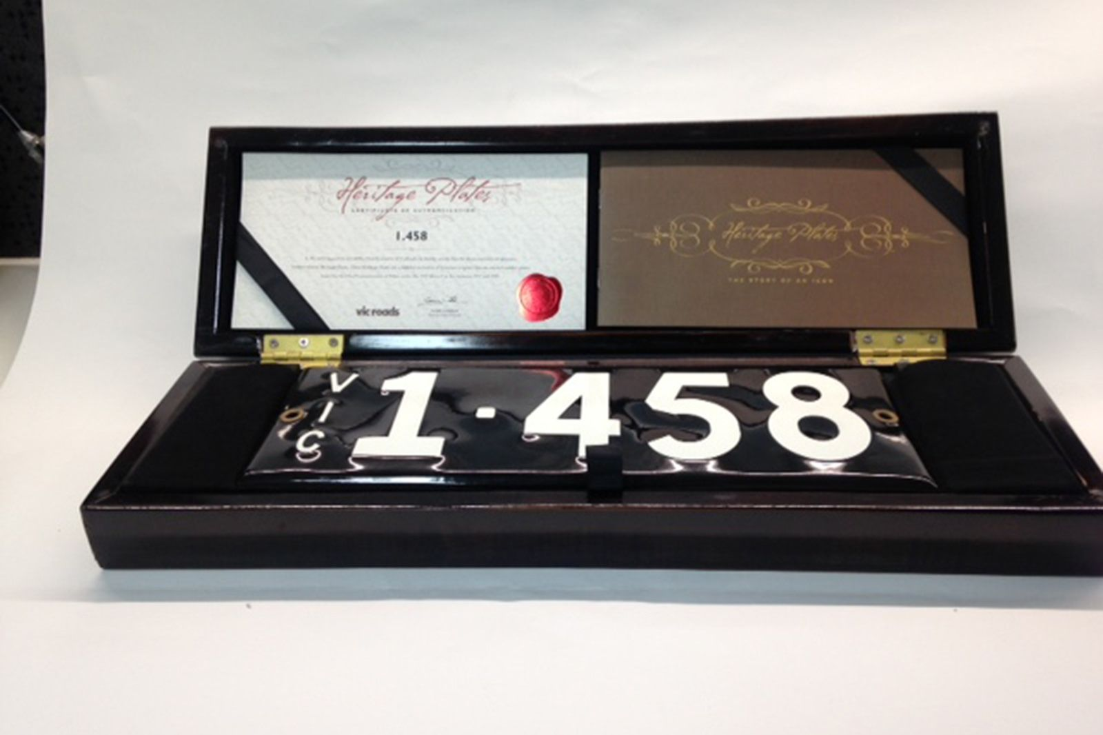 Victorian Numerical Heritage Plate - '1.458'