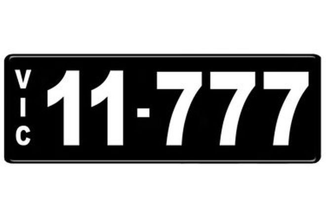 Number Plates - Victorian Numerical Number Plates - 11.777
