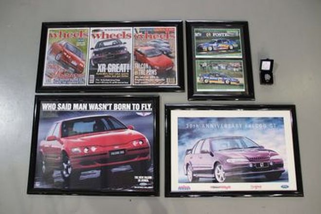 Framed Posters & Watch - 4 x Ford Falcon Posters & Limited Edition FPR Watch #159/161