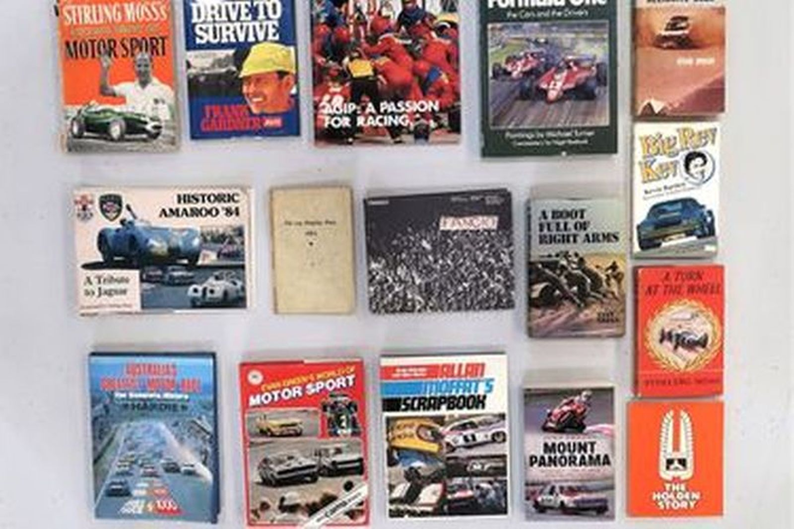 Books - 16 x Motorsport related titles, some signed