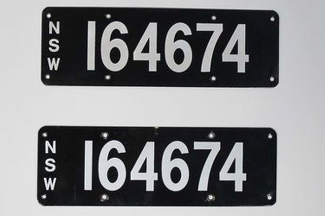 Number Plates - NSW Numerical Number Plates '164674'
