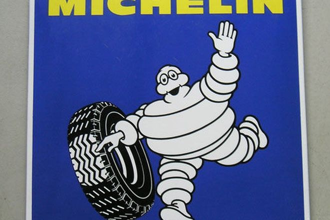 Enamel Sign - Michelin (2'6'' x 2'6'')
