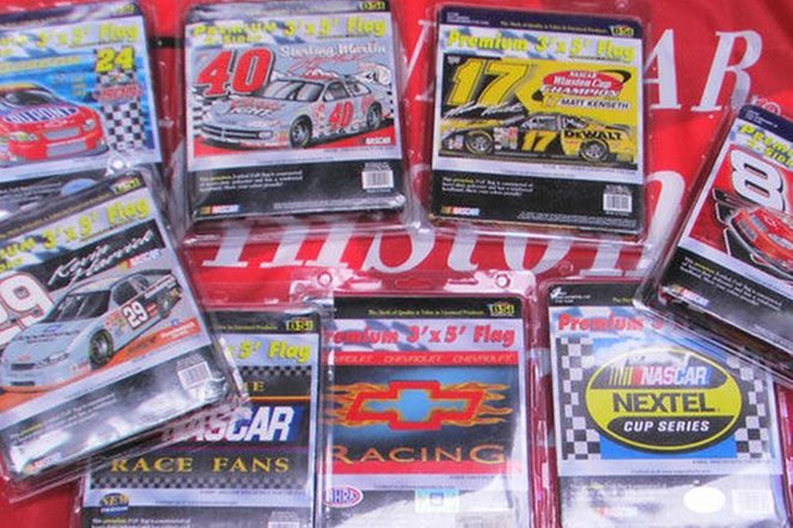 10 x Various Nascar Flags