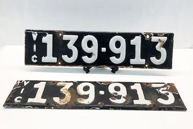 Victorian Heritage Number Plate '139.913'