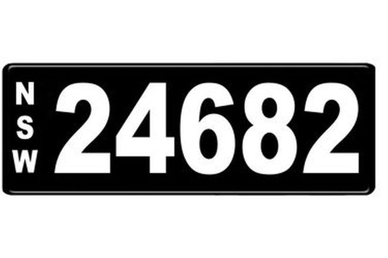 Number Plates - NSW Numerical Number Plates '24682'