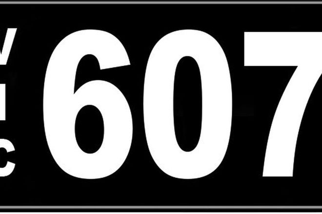 Number Plates - Victorian Numerical Number Plates '607'