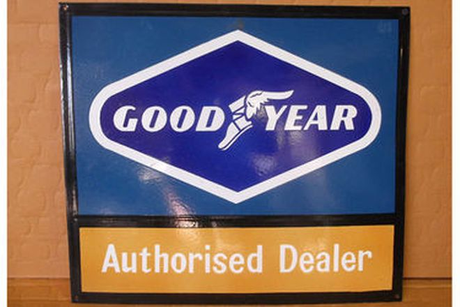 Enamel Sign - Goodyear Authorised Dealer (55 x 35cm)