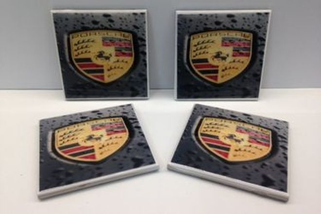 Porsche Coasters set of 4