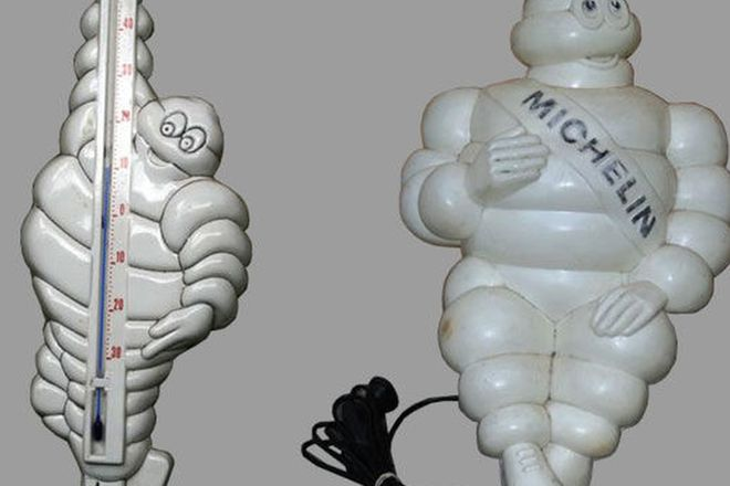 Michelin Man x 2 - Thermometer (45cm tall) & Lamp (45cm tall)