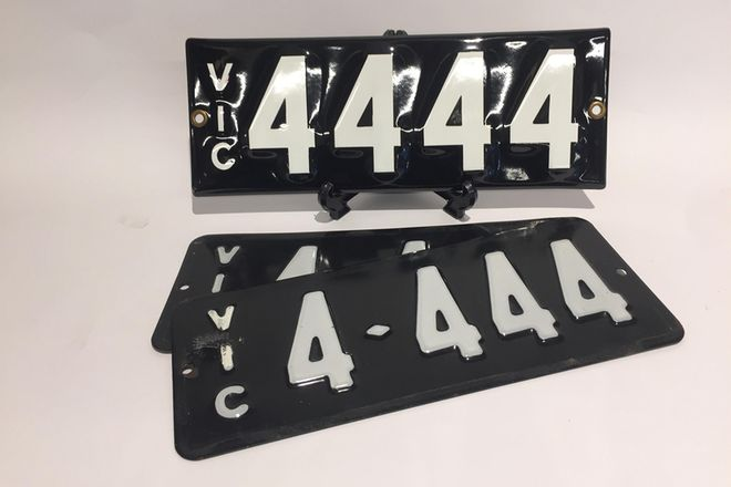Number Plates - Victorian Numerical Number Plates '4444'