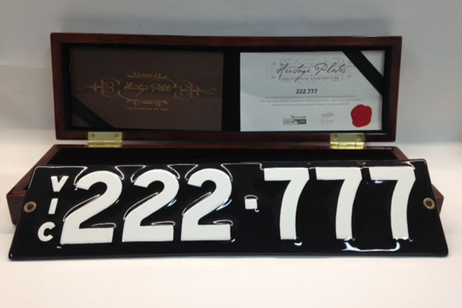 Victorian Numerical Heritage plate - '222.777'