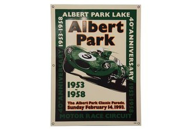 Enamel Sign - 1953 - 1958 40th Anniversary of Albert Park  (No.39/100)
