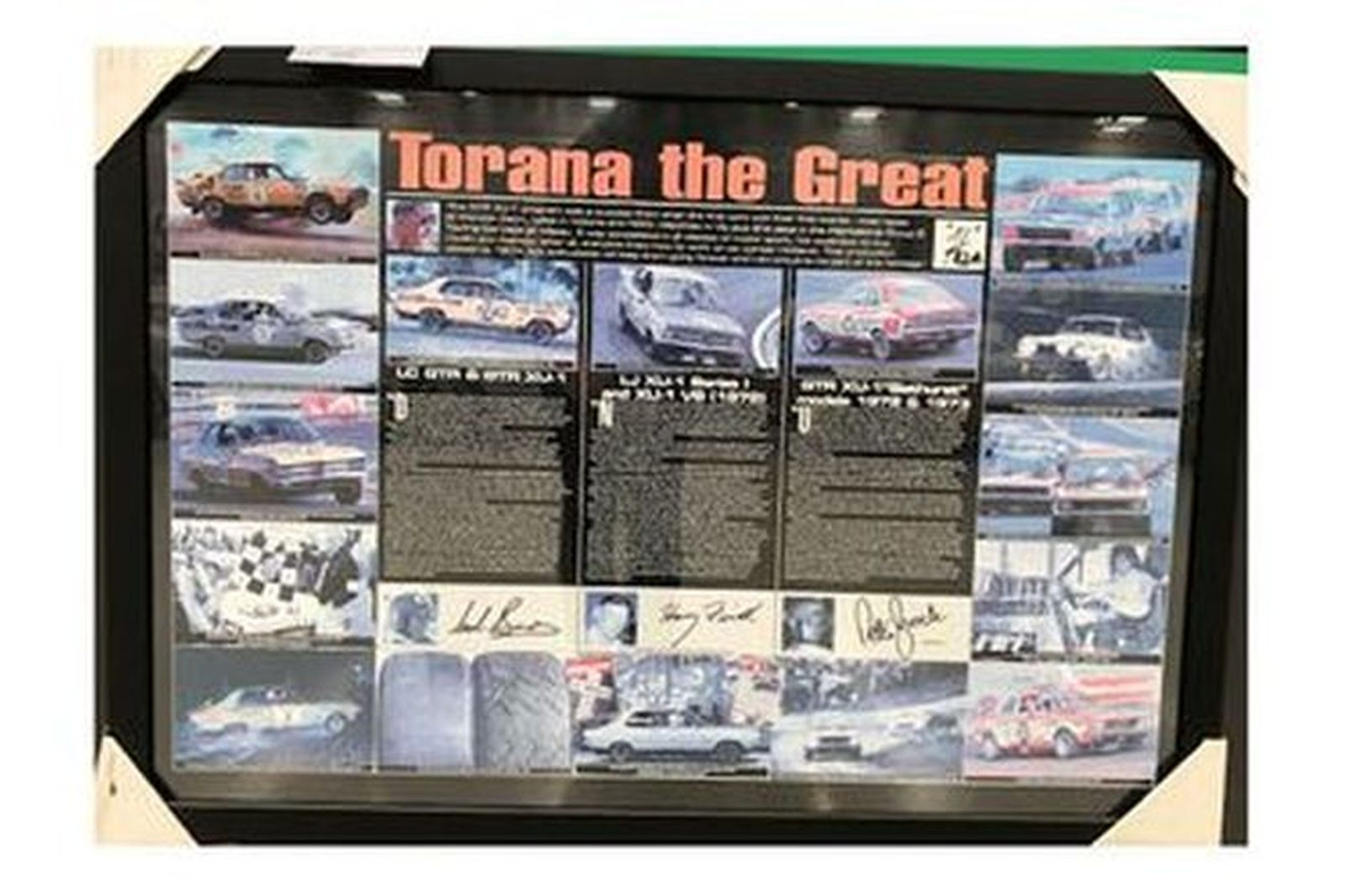 Framed Picture - Torana the Great #624/1000