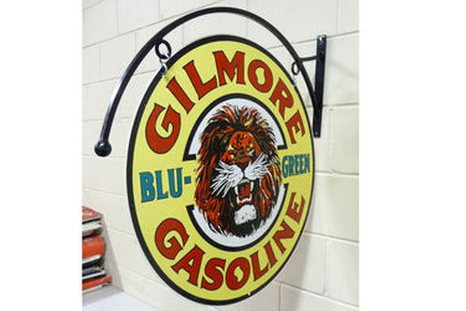 Sign - Gilmore Double Sided Round Hanging Tin sign (Reproduction)