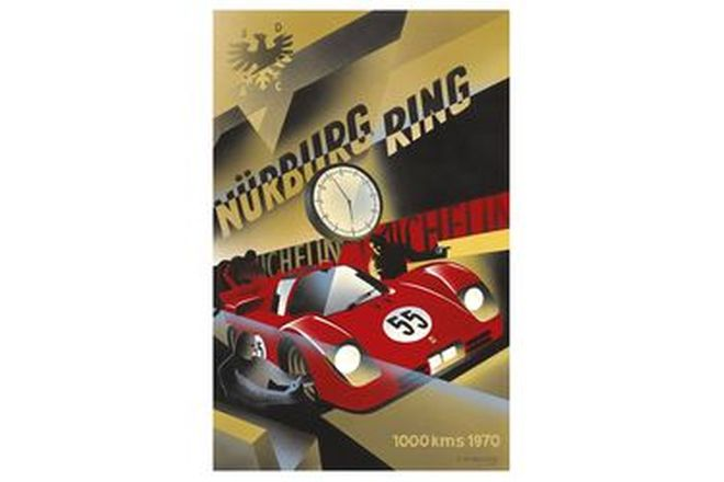 Vinyl Hanging Posters - Ferrari Nurburgring Race