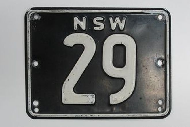 Number Plates - NSW Numerical Number Plates '29'