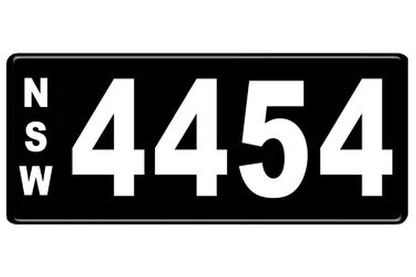 Number Plates - NSW Numerical Number Plates '4454'