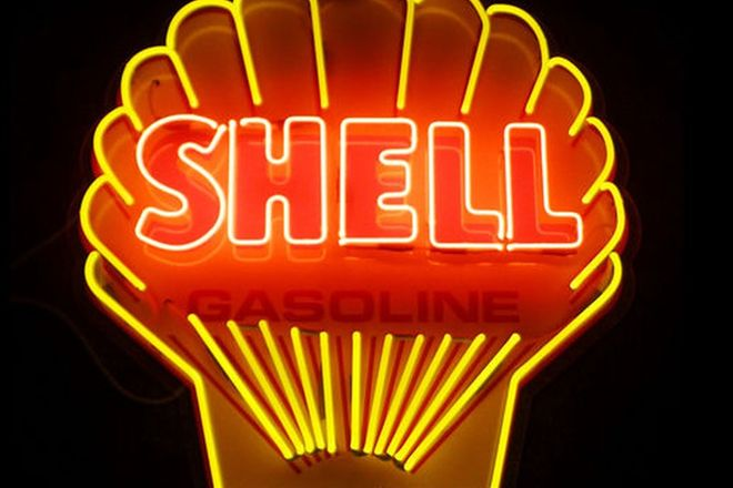 Neon Sign - Shell Gasoline (96 x 90cm)