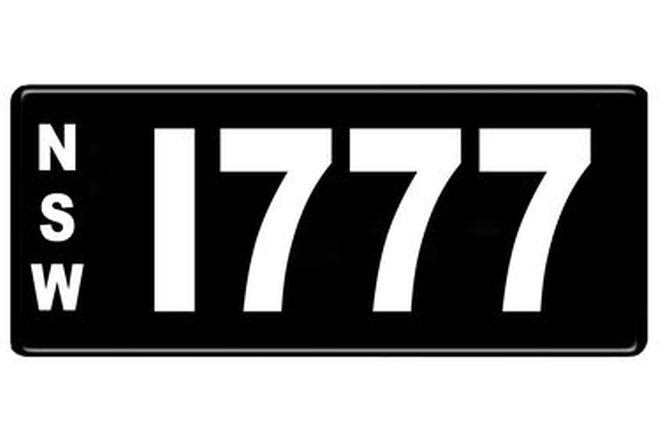 Number Plates - NSW Numerical Number Plates '1777'