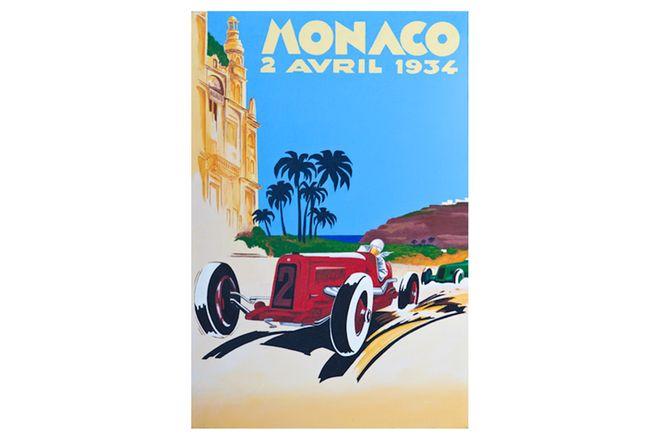 Quality Prints Framed - Monaco 2 Avril 1934 (594 x 841mm)