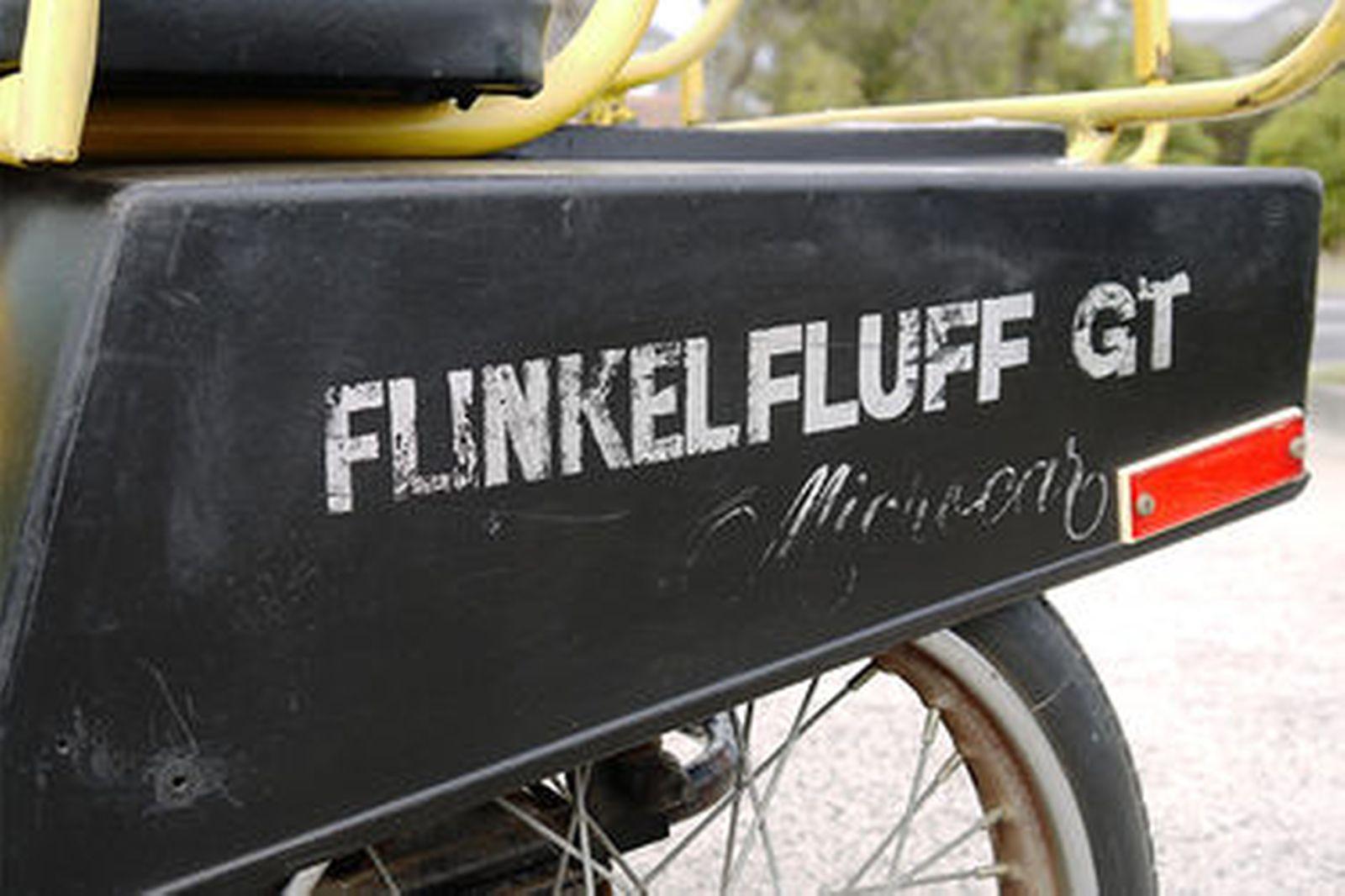 3 Wheeler Flinkelfluff GT with 2 stroke Tomos engine on removable tubular frame