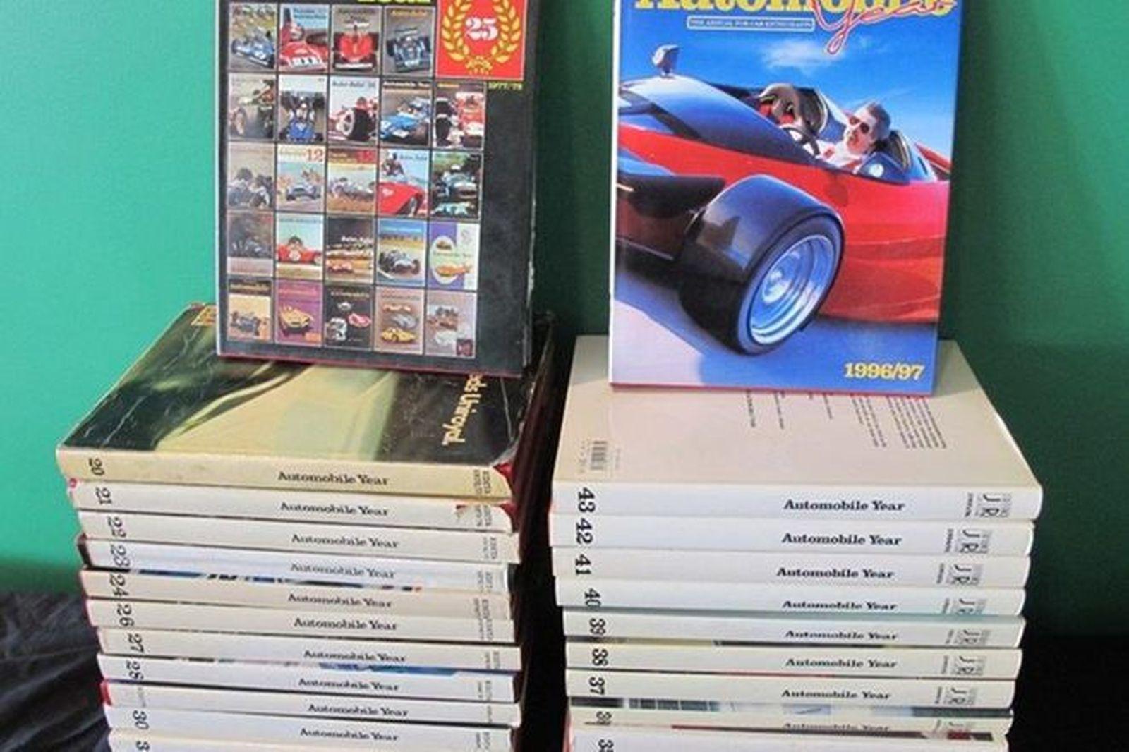Books - 1 x Automobile Review, 26 x Automobile Year, 1 x Australian Motor Sport Review