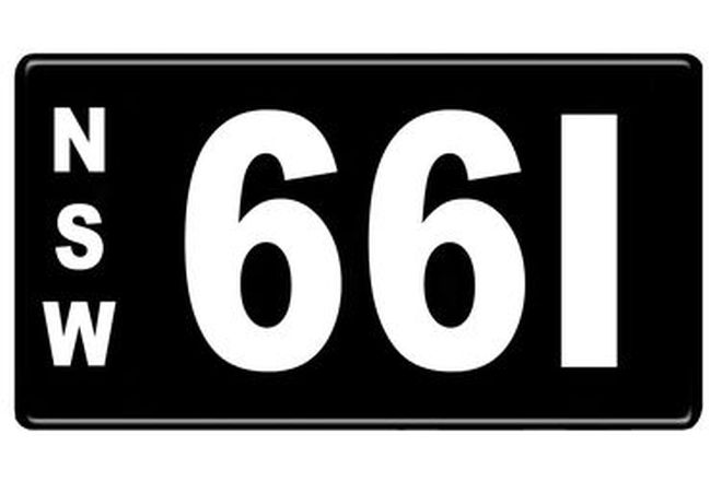 Number Plates - NSW Numerical Number Plates '661'