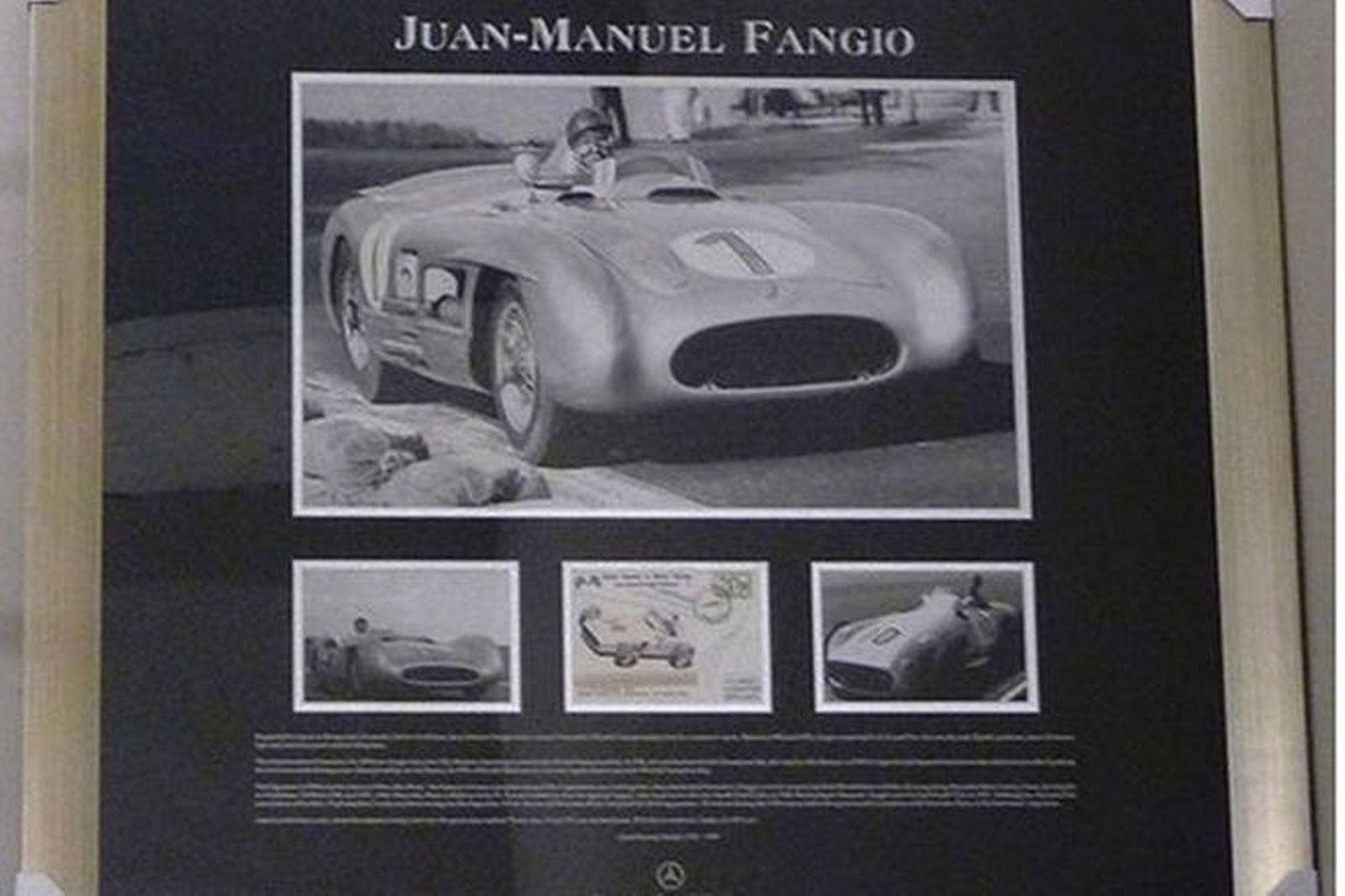 Framed Prints - Juan-Manual Fangio driving for Mercedes-Benz