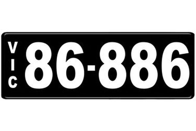 Number Plates - Victorian Numerical Number Plates '86-886'