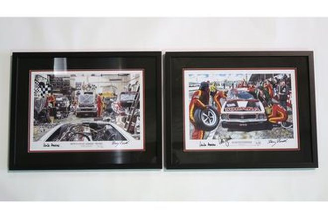 Framed Signed Prints by Mike Harbar x 2 - 'Birth Place of Legends - 1972 XU-1'
