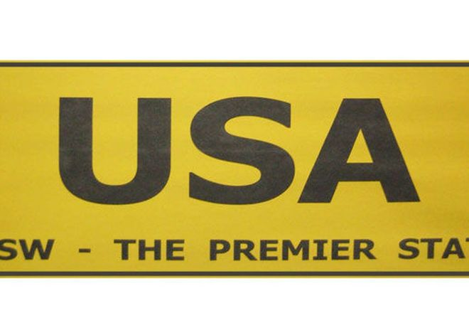 NSW Number Plates 'USA'