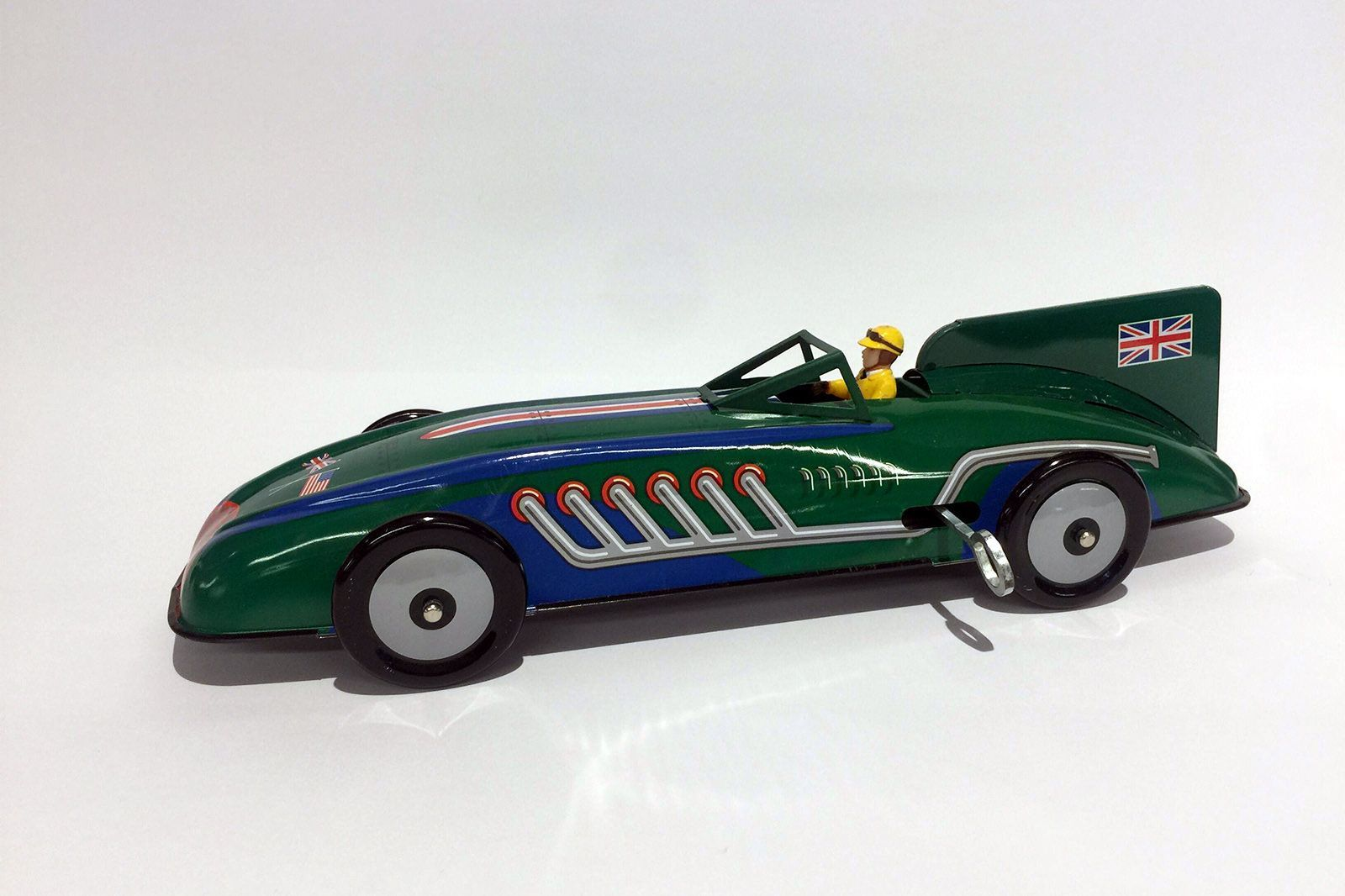 Model Tin Car Schylling Collector Series - British Record Racer