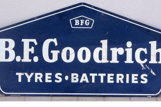 Tin Sign - B.F Goodrich Tyres - Batteries