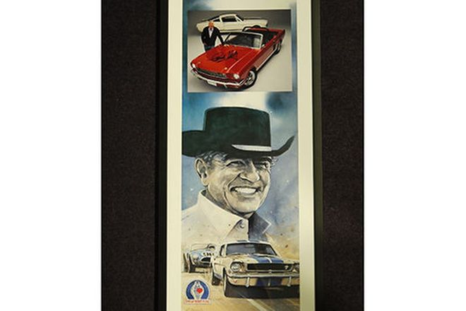Framed Signed Print and Photo -  Caroll Shelby Limited Edition and a Signed Photo