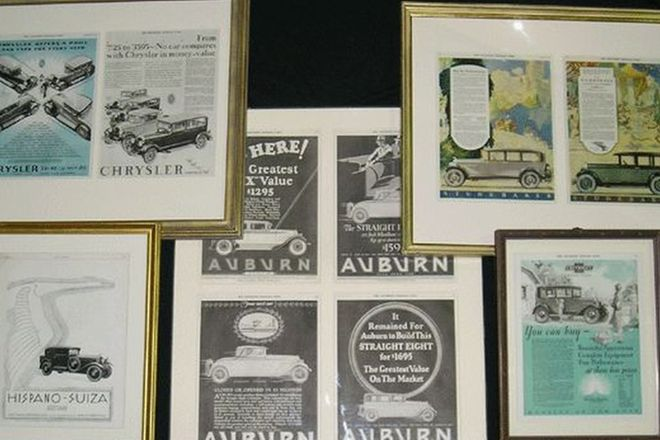 Framed Prints - 5x American Vehicle Advertisements