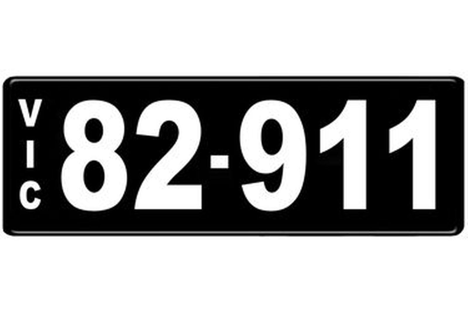 Number Plates - Victorian Numerical Number Plates '82.911'