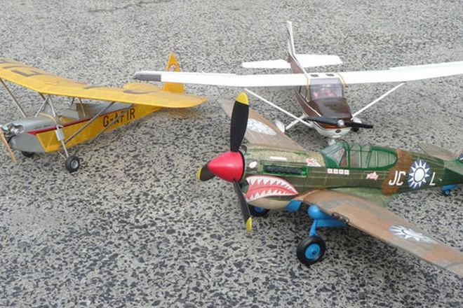 Model Planes x 3 - Cesna, Curtis Tiger Shark & Luton Minor