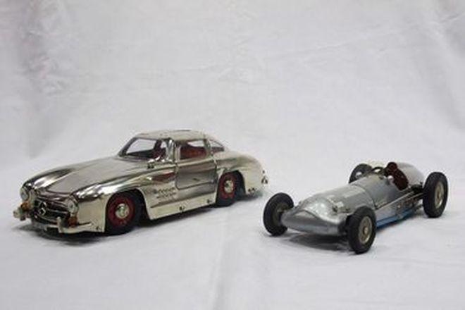 Model Cars - 2 x Marklin Clockwork Tin-plate Racers