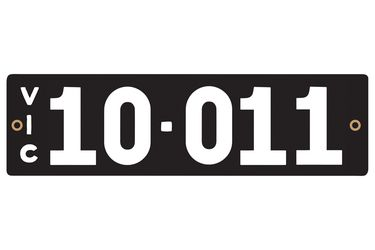 Victorian Heritage Numerical Number Plates - '10.011'