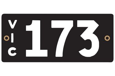 Victorian Heritage Numerical Number Plate - 173