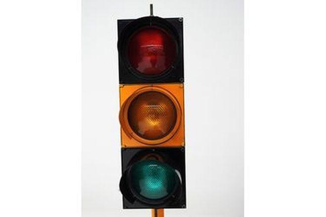 Light up Traffic Lights on stand