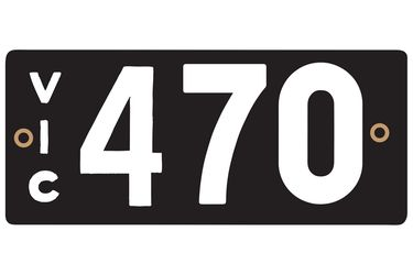 Victorian Heritage Plate '470'