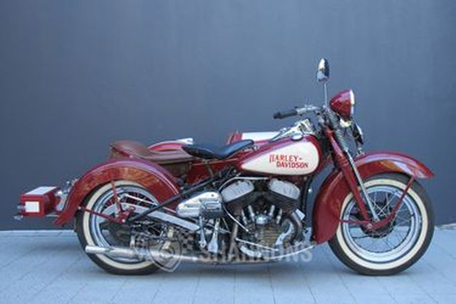 Harley-Davidson WLA 750cc Motorcycle with Dusting Sidecar