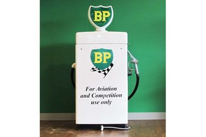 Petrol Pump - Wayne 605 Electrical Industrial Shorty Pump in BP Livery Restored with Reprod. Globe