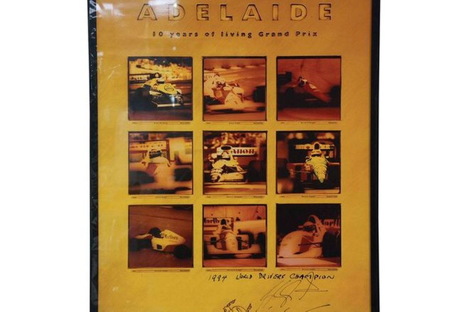 Signed Print - 1994 Adelaide Grand Prix - signed by Michael Schumacher
