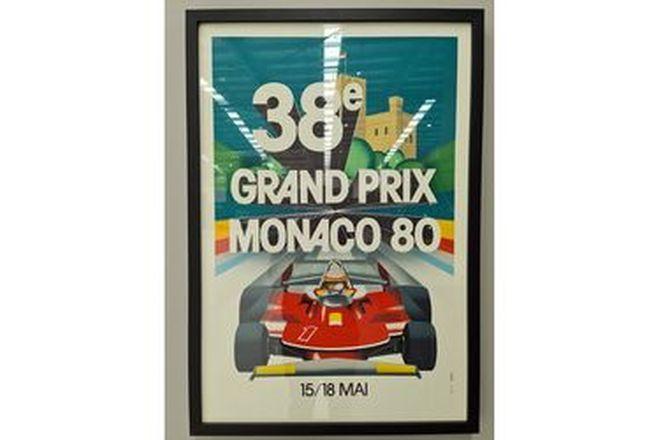 Grand Prix Monaco 80 Framed Print (720W x 1040H)