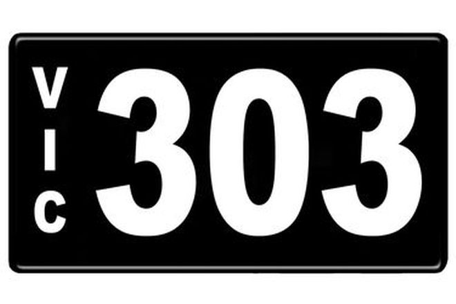 Number Plates - Victorian Numerical Number Plates '303'