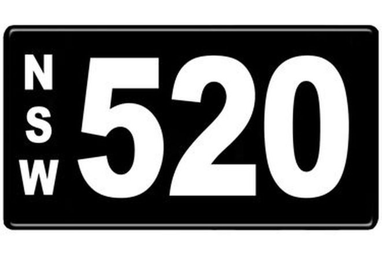 Number Plates - NSW Numerical Number Plates '520'